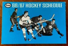 1966/67 ESSO NHL National Hockey League Schedule Sked EX/NM Toronto Cup Win