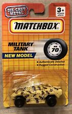 Matchbox New Model Military Tank MB70 Vintage Die Cast