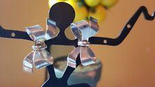 Vintage sterling silver screw back bow tie earrings(for a non- pierced ears)