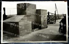 WW2 Holland - abandoned German monolithic concrete defenses -Real Photo Postcard