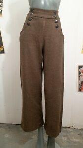 Tara Starlet 1940s Vintage Brown Trousers NEEDS REPAIR