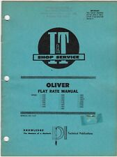 I&T Shop Service Oliver O-27  Flat Rate Manual meac23