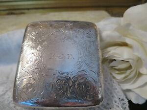 Fantastic Antique 1902 solid silver hallmarked Birmingham engraved case (L)