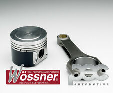 Wossner Forged Pistons + PEC Steel Rods for Vauxhall C20LET 2.0 Flat Top 3 Ring