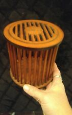 Vintage Whitmor Wood Round Container