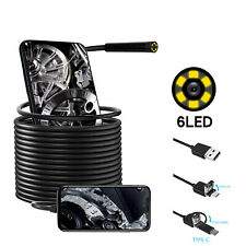Type-c/Micro/USB Endoscope Waterproof Inspection Camera For Android Phone HTC LG
