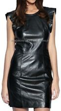 Spring Designer Lamb New Leather Women Dress Cocktail Stylish Party Wear  D-060