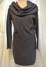 Dolce Vita Viscose/Nylon Knit Tunic Dress Dramatic Draped Cowl Neck-M/L