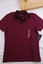 Alfani mens short sleeve polo golf shirt Size Small Burgundy  (MM)