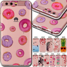 For Huawei Phones Cute Gel TPU Skin Painted Silicone Case Soft bumper Back Cover