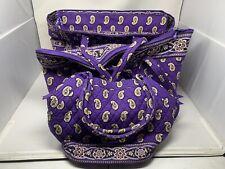 """Lot 3 Vera Bradley Bags Large Weekender Duffle Bag Purple Floral 24"""" 22"""" 16"""" A3"""
