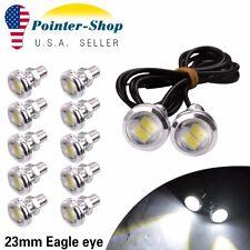 12X Eagle Eye High Power 5730 LED White Fog Daytime DRL Backup bulbs 23mm 9W