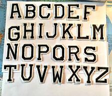 Buchstaben Aufbügler / Aufnäher Alphabet ABC Initialen Name letter patch