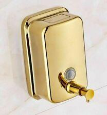 500ml Gold Finish Wall Mounted Liquid Soap Dispenser Pop Up Button Luxury Box