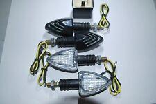 SET OF 4 LED E MARKED INDICATORS FREE 2 PIN LED RELAY FOR HONDA CBR125 18 LEDS