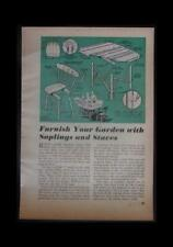 Rustic Garden Furniture Table & Chair 1949 How-To build PLANS