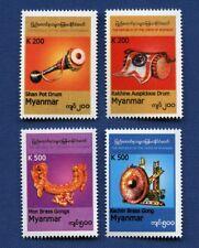 Myanmar Burma 2017 Musikinstrumente Musik Gong Trommel Freimarken 454-457 MNH
