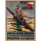 Sport Rowing Canoe Padova Italy Regatta Exhibition Vintage Advert Framed Print