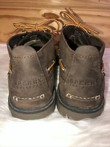 Sperry Top-Sider Leather Waterproof STS 10087 Boat Ankle Bt Shoes Men's SZ 9.5 M