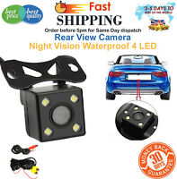 Car Rear View Camera Reversing Parking Cam Night Vision Waterproof 4 LED 170° HD