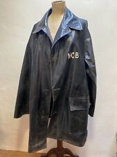 "Men's Vintage Black Rubber Waterproof Coat workwear jacket Scottish 48"" NCB"