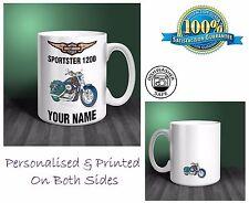 Harley Davidson Sportster 1200 Motorbike Personalised Ceramic Mug Gift (MB055)