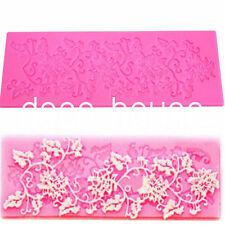Flower Leaf Lace Silicone Fondant Icing Mould Wedding Cake Decoration Sugarcraft