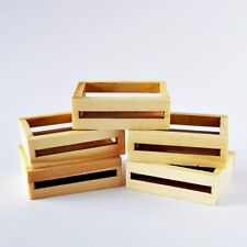 Wooden Wood Fruit Crate FAIRY GARDEN Accessories Dollhouse Miniature Vintage New