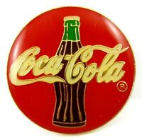 Coca Cola 1990 Coke Bottle Design Drinks Advertising Pin Badge