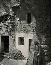 D1125 France - Tenda - Pittoresche casupole - Stampa antica - 1927 old print