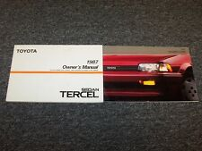 1987 Toyota Tercel Sedan Owner Owner's Operator User Guide Manual Set EZ DX 1.5L