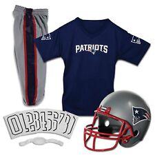 New England Patriots Uniform Set Youth NFL Football Jersey Helmet Costume Medium