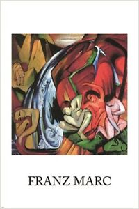 FRANZ MARC the waterfall VINTAGE PAINTING POSTER modern art ABSTRACT 24X36