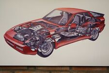 Porsche  944 Turbo red pvc large WORK SHOP BANNER garage car show banner