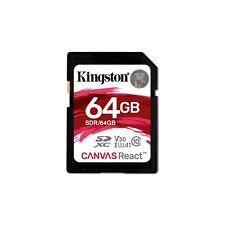 Kingston Lona React (64gb) CLASE 10 uhs-1 U3 SDXC tarjeta de memoria