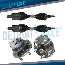 Front CV Axle Drive Shafts w/Front Wheel Hub and Bearings Set for Cadillac ABS