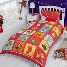 Adventskalender Weihnachten Einzel Bettwäsche (mit eingebauten Tasche)