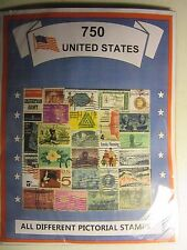 US OLD TIMER STAMP LOT ALL DIFFERENT USED WELL MIXED 750 DIFFERENT FREE SHIPPING