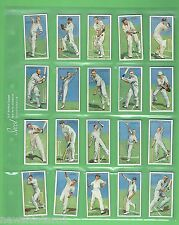 #T52.  TWO SETS  OF FIFTY  CRICKET CIGARETTE CARDS - CRICKETERS 1930 & 1934