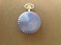 POCKET WATCH NO.17 SILVER AND BLUE COLOURED FOB WATCH, COLLECTABLE