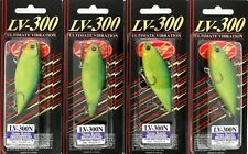 "(4) Lucky Craft LV-300N 3"" Sinking 3/4 Oz. Lipless Crankbaits Lime Chart"