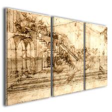 Stampe su tela Leonardo da vinci studio per la adorazione dei magi ® quality