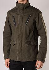 NWT Diesel J-Saffron Mens Funnel Neck Military Jacket XL X-Large Outerwear