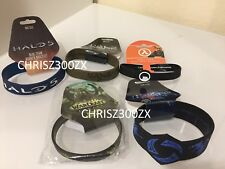 Heroes of The Storm, Halo 5, Warcraft, Half Life Rubber Bracelet Wristband LOT