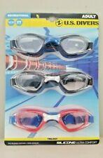 US Divers Trilogy Adult Swim Google Silicone Ultra Comfort Shatter Resist UV 3PK