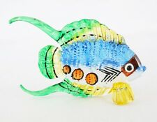 Blowing Glass Colorful Hand Painted Fish Figure Crafted Art Home Decor F003