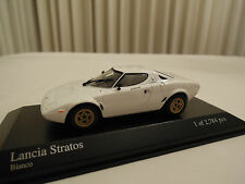 Minichamps Lancia Stratos White 1/43 Ltd. Edition New in Box Ships From USA