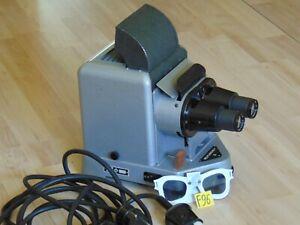 Selten Belplascus V Stereo Projektor Lens Objekt E.Ludwig Auxanar 3,5/ 80 mit K