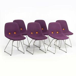 Set of 6 Erik Jorgensen EJ 2 Eyes Chair by Foersom + Hiort-Lorenzen in Purple