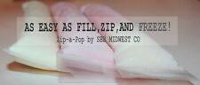 Zip-a-Pop Popsicle Molds, Ice Pop Bags for Freeze Pops, Ice Candy, Kids Gogurt.